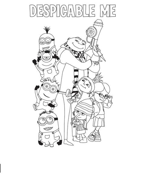 Despicable Me Coloring Pages 6