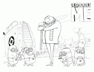 Despicable Me Coloring Pages 7