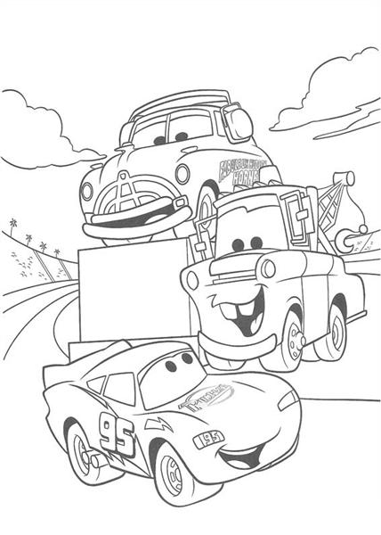 Disney Cars Coloring 8