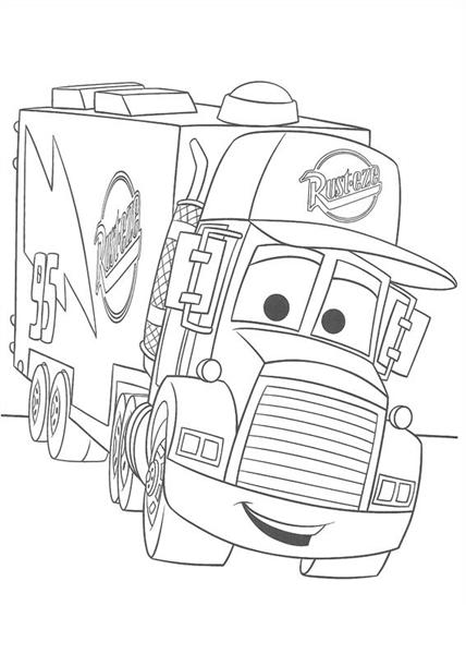 Disney Cars Coloring 10
