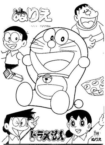 Doraemon Coloring Pages 11