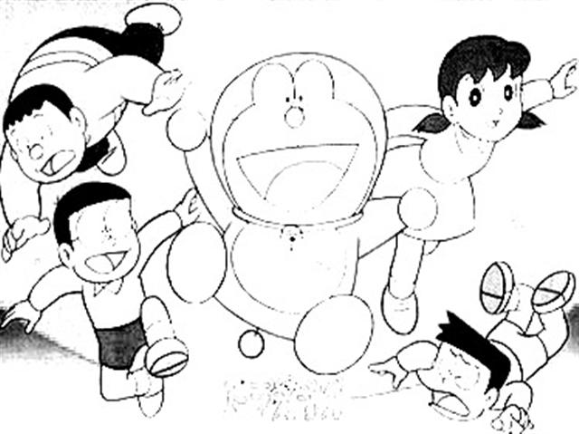 Doraemon Coloring Pages 3