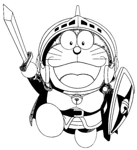 Doraemon Coloring Pages 4