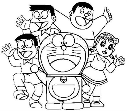 Doraemon Coloring Pages 5