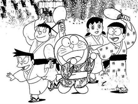 Doraemon Coloring Pages 8