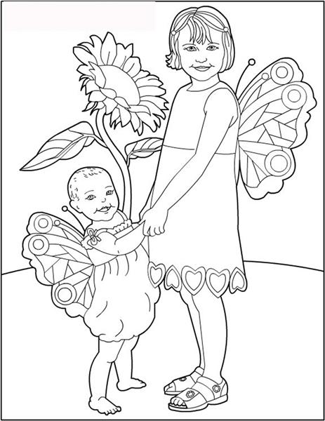 Fairies Coloring Pages 1