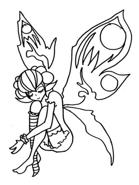 Fairies Coloring Pages 10