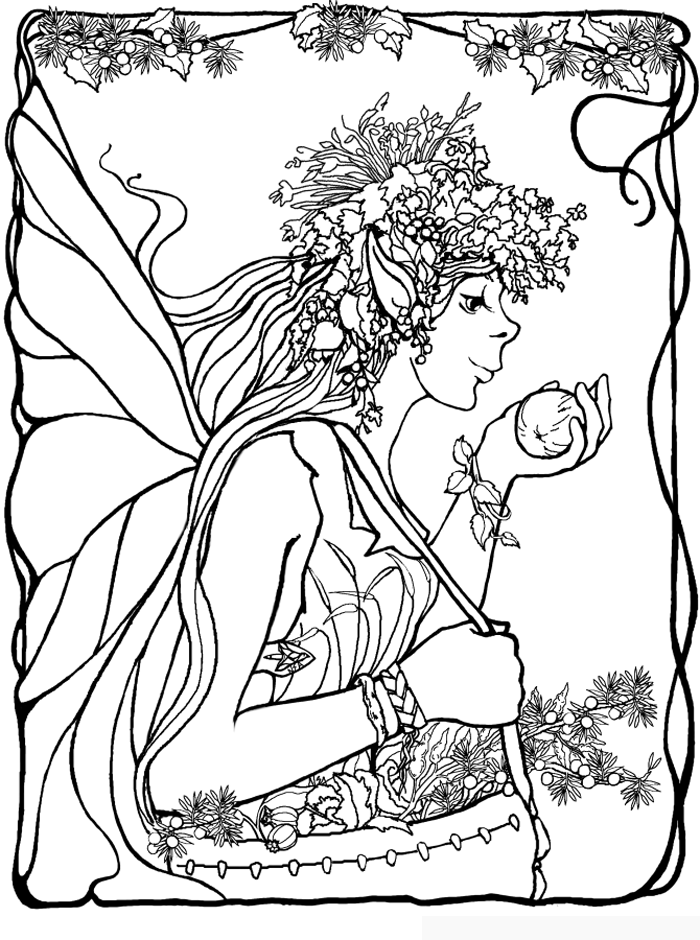 Fairies Coloring Pages 3