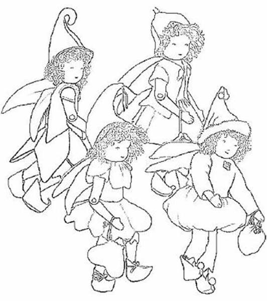 Fairies Coloring Pages 7