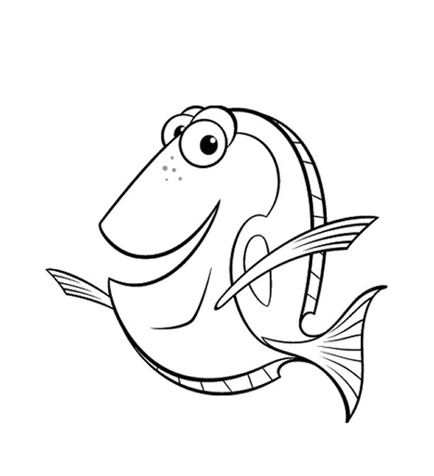 Finding Nemo Coloring Pages 1