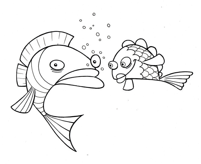 Fish Coloring Sheet 9