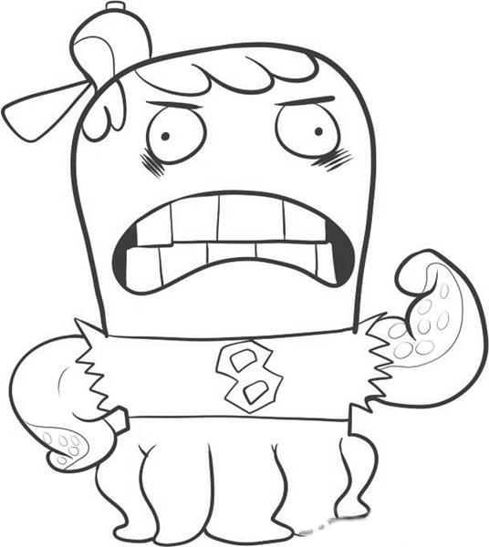 Fish Hooks Coloring Pages 7
