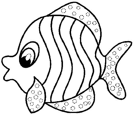 Fish Coloring Sheet 7