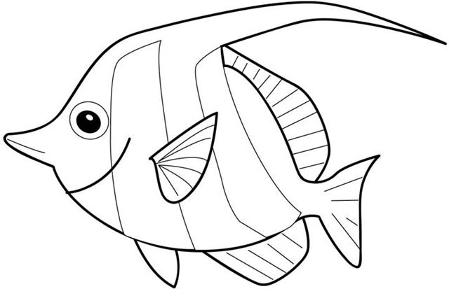 Fish Coloring Sheet 12