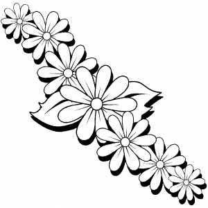 hawaiian flower coloring sheets with pages for hawaiian party