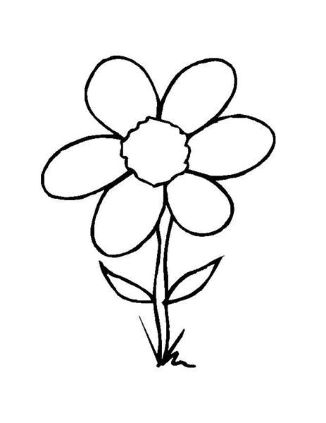 Printable Flower Coloring Pages 5