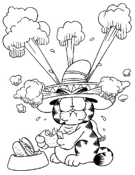 Garfield Coloring Pages 7