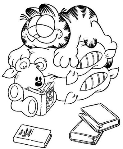 Garfield Coloring Pages 11