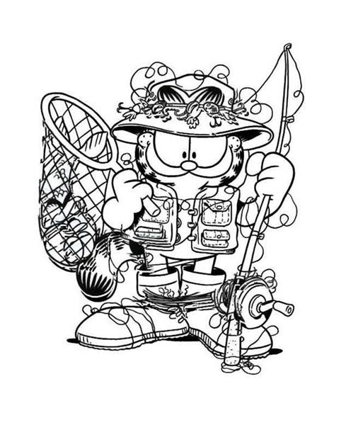 garfield coloring pages 12 - Garfield Halloween Coloring Pages