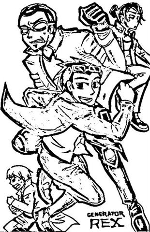 Generator Rex Coloring Pages 3