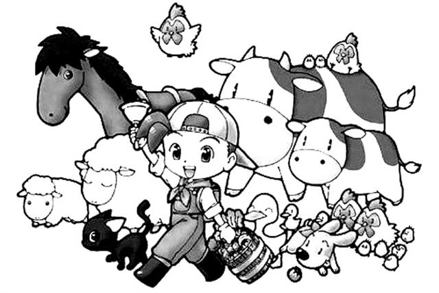 Harvest Moon Coloring Pages 2