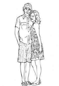 High School Musical 2 Coloring Pages 2