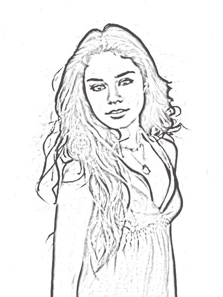 High School Musical 2 Coloring Pages 5