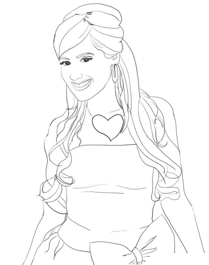High School Musical 2 Coloring Pages 9