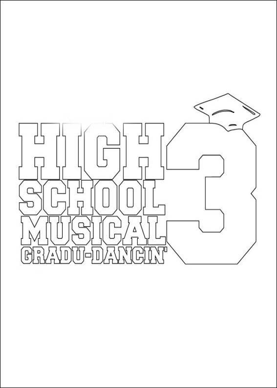 High School Musical 3 Coloring Pages 3