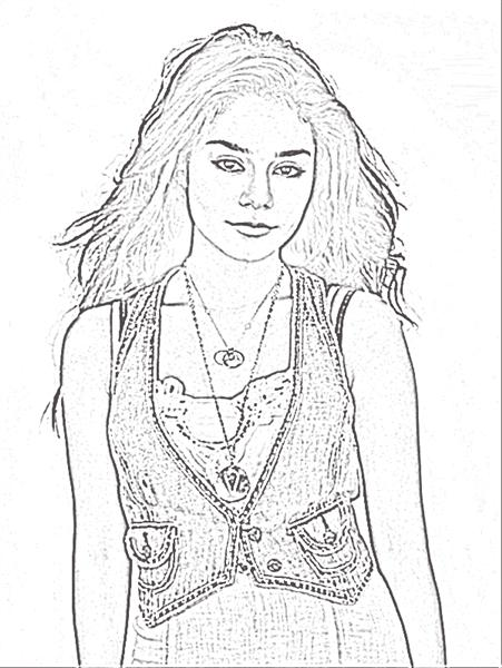 High School Musical 3 Coloring Pages 5