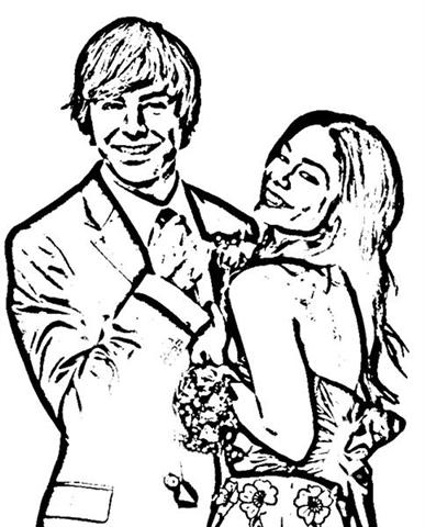 High School Musical Senior Year Coloring Pages 3