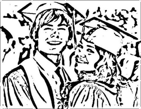 High School Musical Senior Year Coloring Pages 6