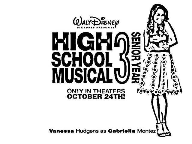 High School Musical Senior Year Coloring Pages 7