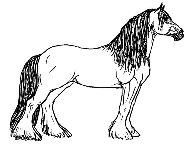 Horse Coloring Pages 9