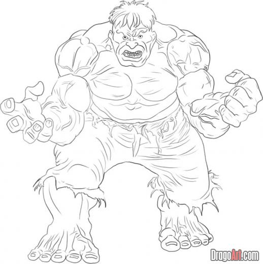 Hulk Coloring Pages 4
