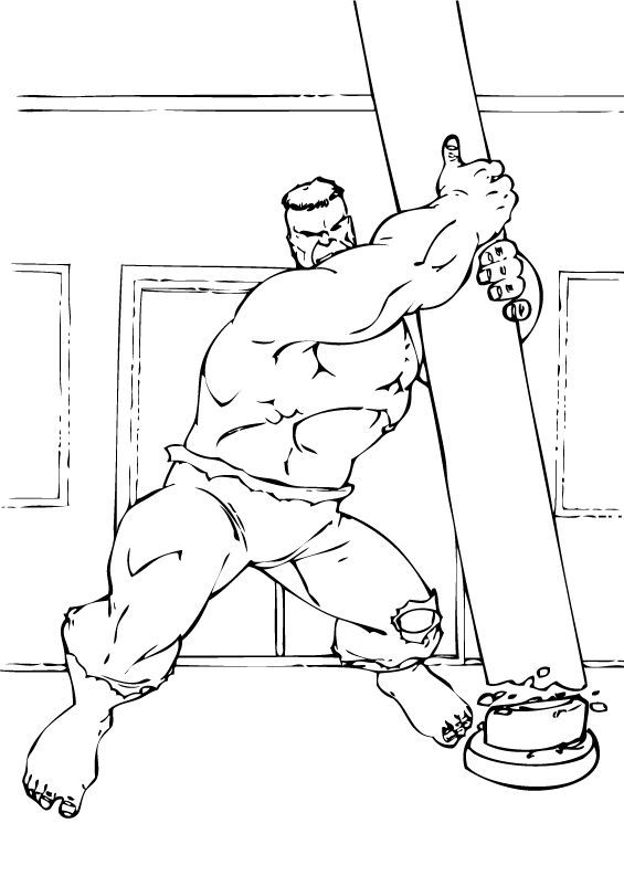 Hulk Coloring Pages 9