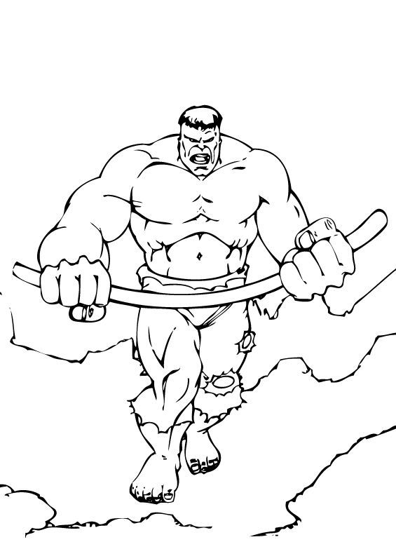 Incredible Hulk Coloring Pages 2