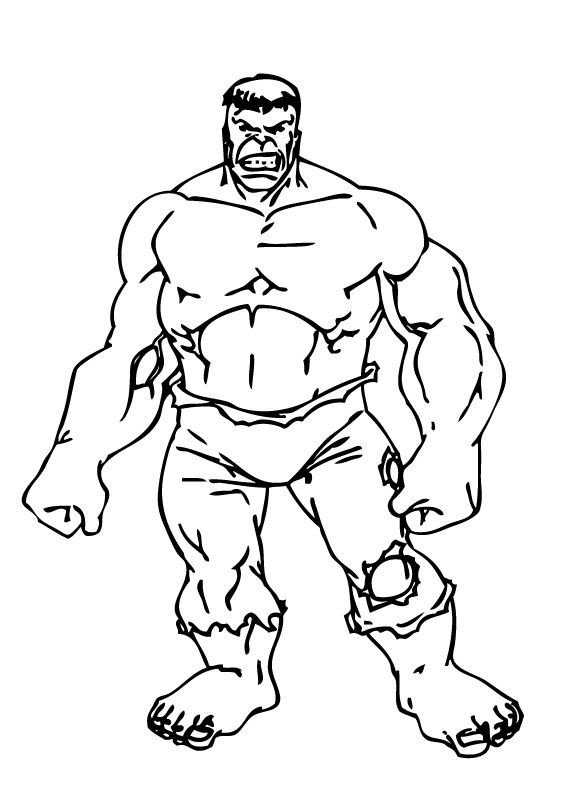 Hulk Coloring Pages 6
