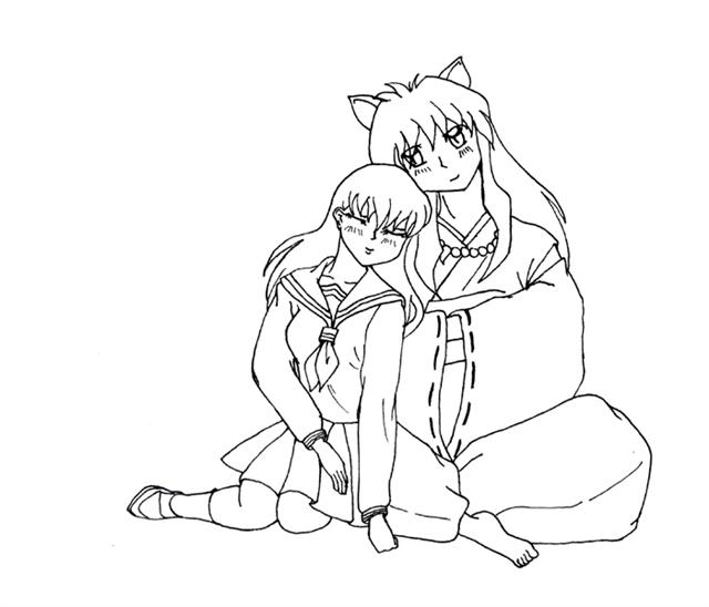 Inuyasha The Final Act Coloring Pages 7
