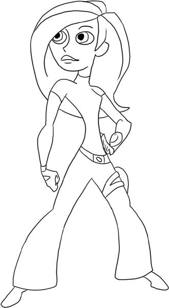 Kim Possible Coloring Pages 1