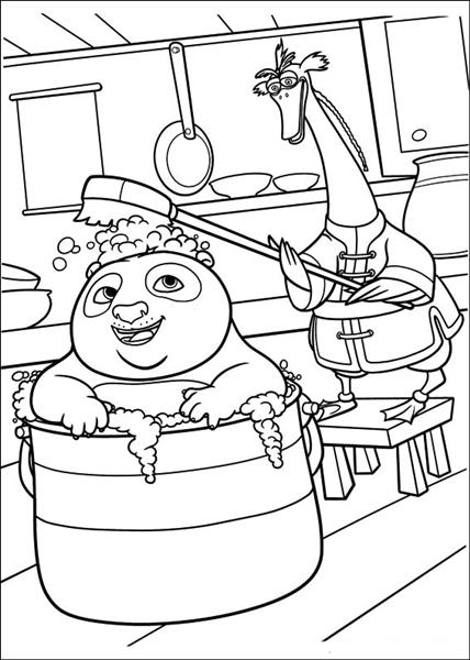 Kung Fu Panda 2 Coloring Pages 1