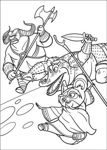 Kung Fu Panda 2 Coloring Pages 2