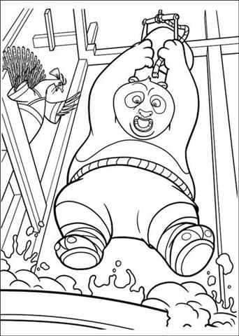 Kung Fu Panda 2 Coloring Pages 7