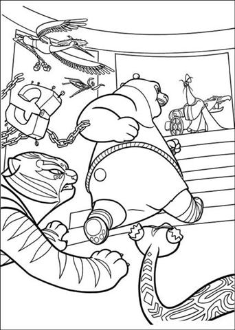 Kung Fu Panda 2 Coloring Pages 8