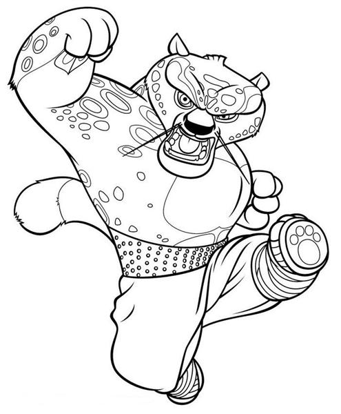 Kung fu Panda Coloring Pages 3