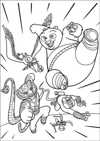 Kung fu Panda Coloring Pages 6