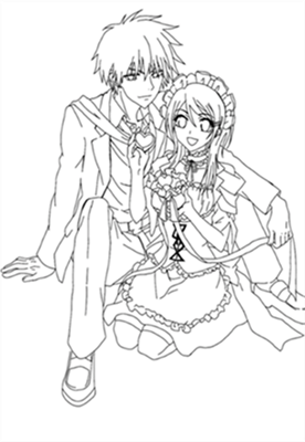 Maid Sama Coloring Pages 8