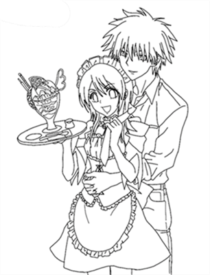 Maid Sama Coloring Pages 9