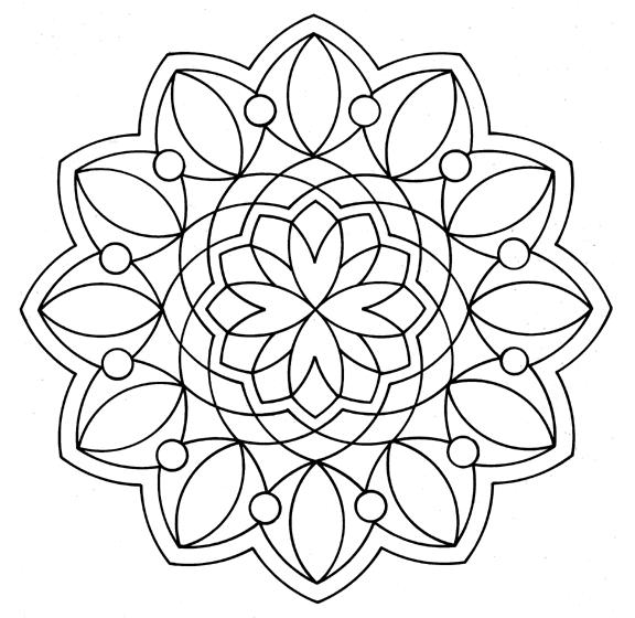 Free Mandala Coloring Pages 4