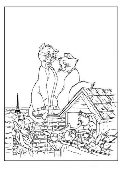 Marie Coloring Pages 3